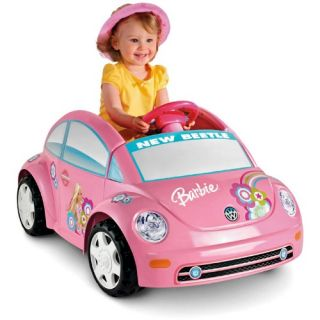 Fisher Price Power Wheels Barbie Volkswagen New Beetle Battery Powered Riding Toy   Battery Powered Riding Toys