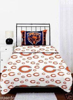 NFL Chicago Bears Logo Twin Sheets   Football Sheet Set Twin Single Bed : Other Products : Everything Else