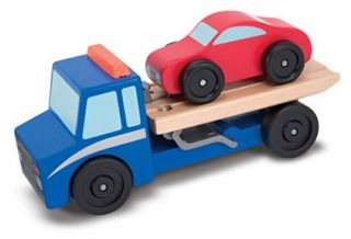 Melissa and Doug Flatbed Tow Truck Playset   Playsets