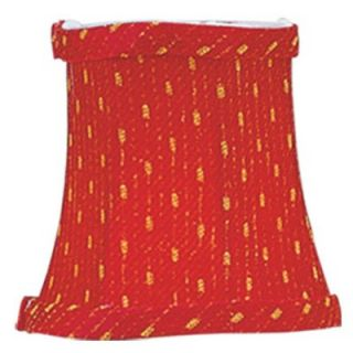 Livex S241 Bell Clip Chandelier Shade in Red/Gold   Lamp Shades