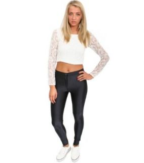 Pilot Giselle Shiny Disco Pants in Black, 2 at  Women�s Clothing store
