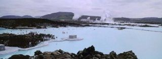 People In The Hot Spring, Blue Lagoon, Reykjavik, Iceland Poster Print by Panoramic Images (36 x 12)