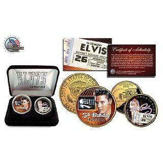Elvis 75th Birthday Commemorative Coin Set of 2