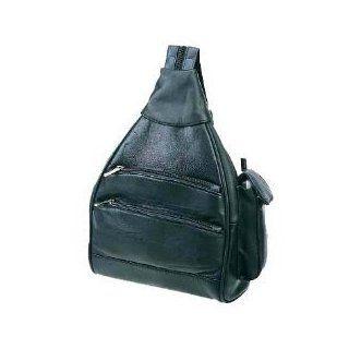 Black Lambskin Leather Backpack/Handbag Sling w/ Cell Phone Holder Clothing