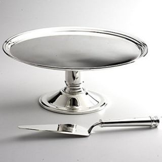 Godinger Banded Cake Plate And Server   Tiered Cake Stands & Cake Plates
