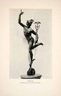 1905 Print Mercury Sculpture State Bronze Giovanni da Bologna Florence Italy   Original Halftone Print