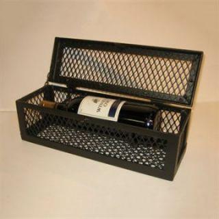 Metrotex Iron Mesh Single Bottle Wine Box   Wine Racks