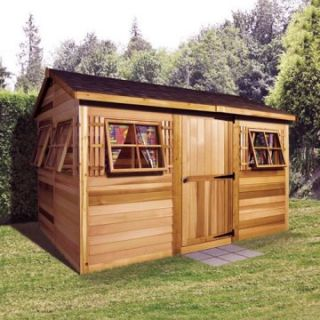 Cedar Shed 9 x 6 ft. Beach House Garden Shed   Storage Sheds