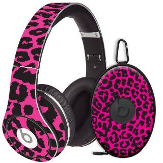 Pink Leopard Decal Skin for Beats Studio Headphones & Carrying Case by Dr. Dre: Electronics