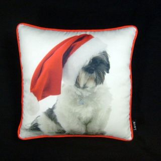 Holiday Shih tzu 16 x 16 Pillow By Lava   Decorative Pillows