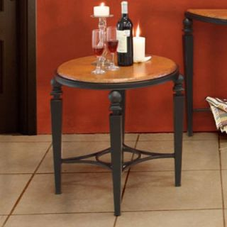 Artisan Tribecca Round Copper End Table   End Tables