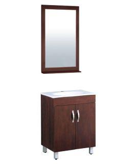Yosemite Home Decor 23.5 in. Single Bathroom Vanity Set   Espresso   Single Sink Bathroom Vanities