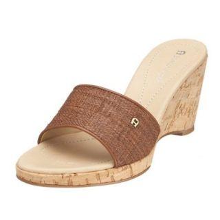 Etienne Aigner Women's Deplume Slide,Tobacco,6 M Shoes