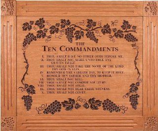 The Ten Commandments, Wall D�cor   Carved and Lasered   Prints