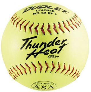 Dudley ASA 12 in. Thunder Heat Softballs   1 Dozen   Balls