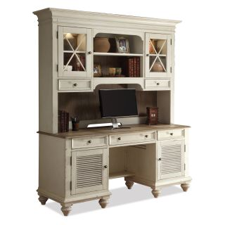 Riverside Coventry Two Tone Shutter Door Credenza   Desks