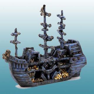 Sunken Pirate Treasure Ship Aquarium Decoration   Aquarium Plants & Decorations