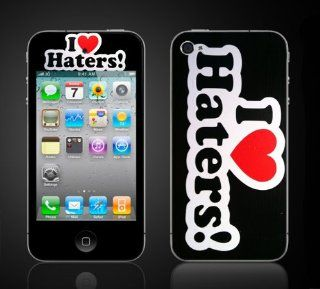 iPhone 4 4S Vinyl Skin Kit  I Love Haters  I Heart Haters, Don't Hate the player vinyl skin: Cell Phones & Accessories