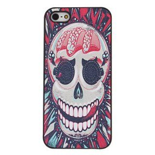 case   Scary Red Skull Pattern PC Hard Case with Interior Matte for iPhone 5/5S : Sports & Outdoors