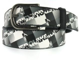 Quiksilver Men's Black & White Plaid Smooth Antiqued Radius Top Buckle Casual Belt, Size L at  Men�s Clothing store Apparel Belts