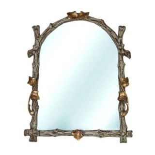 Hickory Manor House Arched Twig Wall Mirror   14.5W x 19H in.   Wall Mirrors