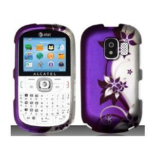3 Items Combo For Alcatel One Touch OT871A (AT&T) Purple/Silver Vines Design Hard Case Snap On Protector Cover + Free Opening Tool + Free American Flag Pin 9789862169100 Books