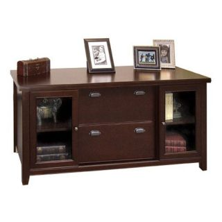 kathy ireland Home by Martin Tribeca Loft Cherry Storage Credenza   Bookcases