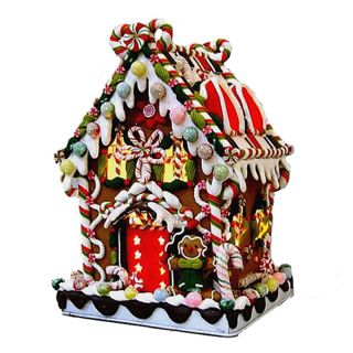 Kurt Adler 8.6 in. Gingerbread Candy House   Christmas Lights