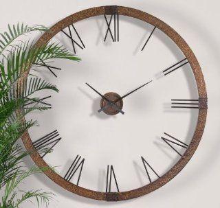Extra Large Copper Open Wall Clock Designer Openwork XL   Oversized Wall Clock