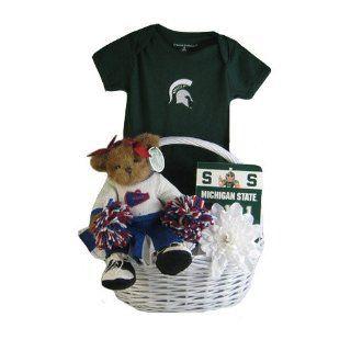 Michigan State Spartans Baby Girl Gift Basket ***TOUCHDOWN  Baby