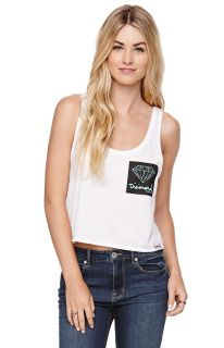 Womens Diamond Supply Co Tees & Tanks   Diamond Supply Co Diamond Faux Pocket Ta