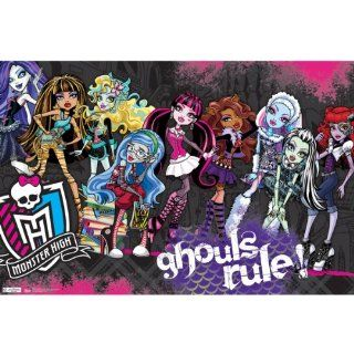 Monster High(TM) Ghouls Rule Poster 22''X34''  Monster High(TM) Ghouls Rule Poster 22''X34''   Entertainment Collectible Prints And Posters