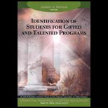 Identification of Students for Gifted and Talented Programs