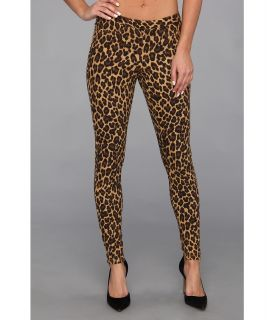 HUE Leopard Print Legging Womens Casual Pants (Brown)