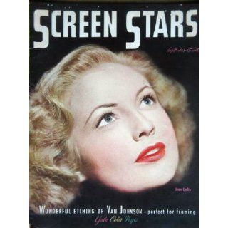 SCREEN STARS magazine September 1945 with Joan Leslie on the cover . Articles by or about William Holden, Frank Sinatra, Deanna Durbin, Robert Alda, Eve Arden. Full page ads for Back To Bataan with John Wayne, Wonder Man. Color Portraits of Esther Williams