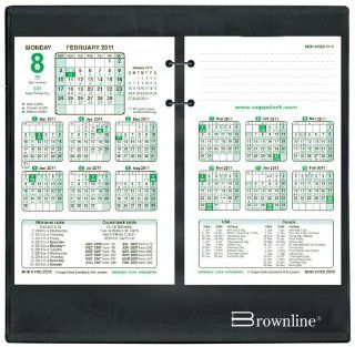 Brownline 9.87 X 9.75 2015 Inches Financial Calendar Stand for C6R and C9R, Black (C5S 15) : Office Calendar Bases : Office Products