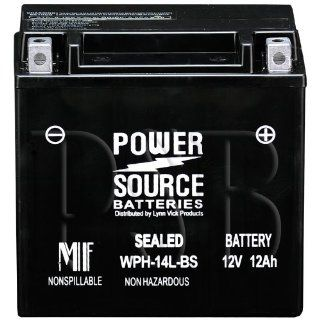65958 04A, 65958 04, UBVT 3, X2 14L, XL 883, XL 1200, Sportster, Nightster Replacement Battery 210cca High Performance WPH14L BS Sealed AGM for Harley Davidson, Buell Motorcycle, Bike Automotive