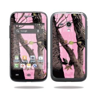 MightySkins Protective Vinyl Skin Decal Cover for Samsung Galaxy Rush Cell Phone M830 Boost Mobile Sticker Skins Pink Tree Camo: Computers & Accessories