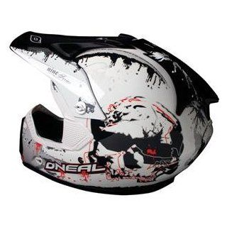 O'Neal Racing 908 Skull Helmet   Small/Black/White Automotive