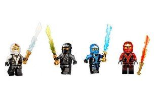 LEGO Ninjago Final Battle Kimono Ninja's set of 4   Cole, Jay, Kai, Zane minifigures (Each with Elemental Sword) Toys & Games