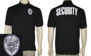 Security Polo Shirt (BLACK) Novelty Polo Shirts Clothing