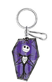 Nightmare Before Christmas Jack Skellington Coffin Disney Enamel Key Chain: Automotive