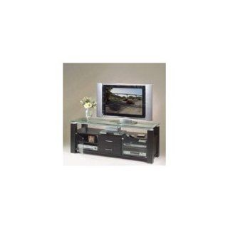 Elite Elt906 65 inch Wide Credenza Projection Tv Stand A/v Combo In Wenge Wood   Television Stands