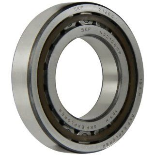 SKF NJ 212 ECP Cylindrical Roller Bearing, Removable Inner Ring, Flanged, High Capacity, Polyamide/Nylon Cage, Metric, 60mm Bore, 110mm OD, 22mm Width, 6300rpm Maximum Rotational Speed, 22900lbf Static Load Capacity, 21000lbf Dynamic Load Capacity Industr