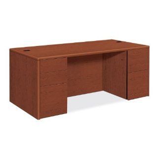 Hon Credenza with Full Kneespace, 72 by 24 by 29 1/2 Inch, Bourbon Cherry   Sideboards Buffets Credenzas