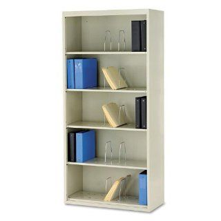 HON J625CNQ   600 Series Jumbo Open File, 5 Shelf, Steel, Legal, 36w x 16 3/4d x 75 7/8h, Gray   Bookcases