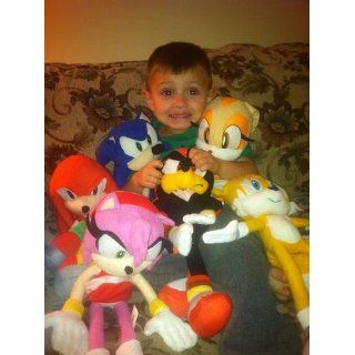 Sega Sonic The Hedgehog X Sonic Shadow Knuckles Tails and Cream Sonic 5 Plush Doll Stuffed Toy. Shadow, Tails, Knuckles, and Cream X  Large Plush Doll 19 inches, (Sonic is 9 inches only)   Sonic Doll Set, Very cute doll, kids love it.: Toys & Games
