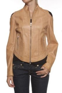 Cristiano di Thiene Antique Leather Jacket FLOWER, Color: Light Brown, Size: 36 at  Women�s Clothing store