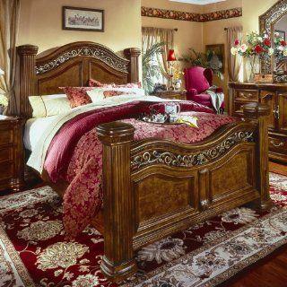 Wynwood Cordoba California King Mansion Bed in Burnished Pine 1635 955   Bedroom Furniture Sets