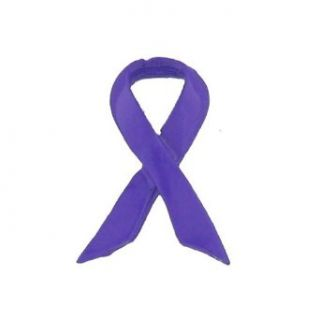 Purple Ribbon Awareness Tac Lapel Tie Pin   Relay for Life, Alzheimers, Lupus, Cancer, Domestic Violence: Novelty Buttons And Pins: Clothing